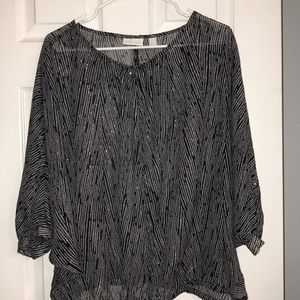 NEW YORK CO PRINTED BLOUSE